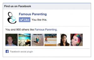 Famous Parenting Fan Likes